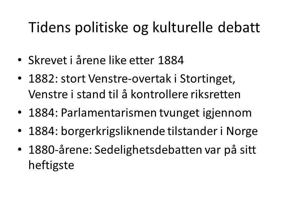 Tidens politiske og kulturelle debatt