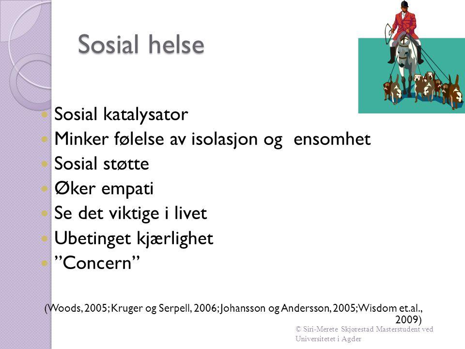 Sosial helse Sosial katalysator