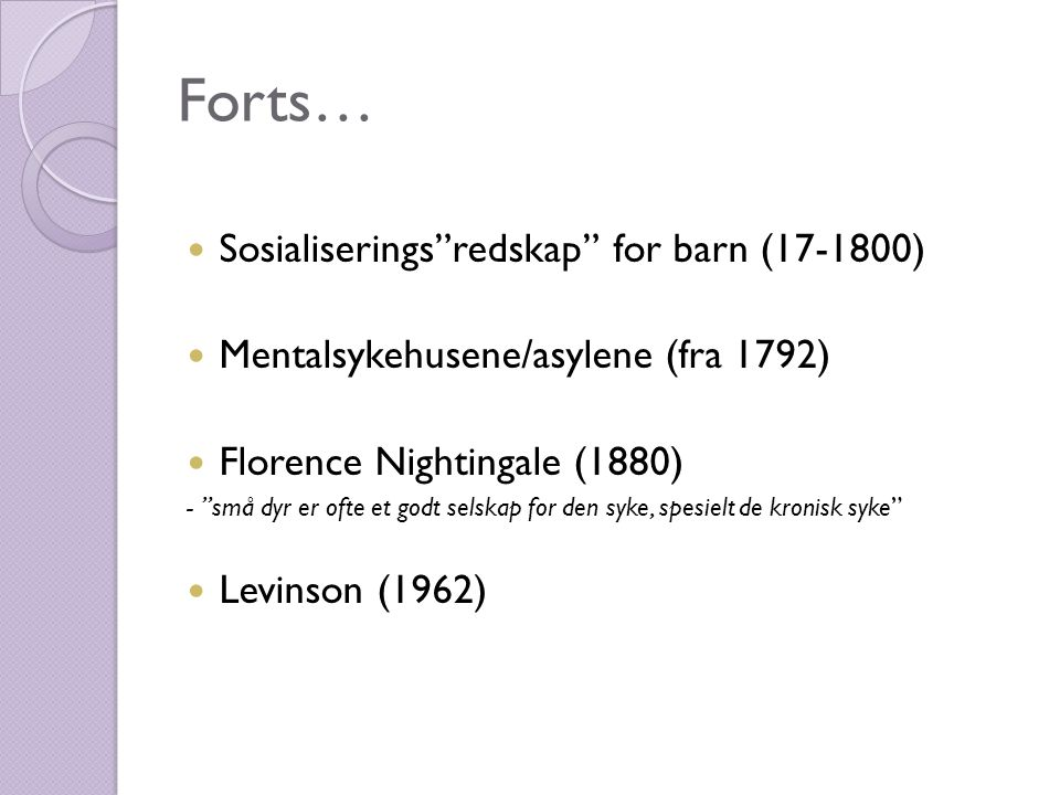 Forts… Sosialiserings redskap for barn (17-1800)