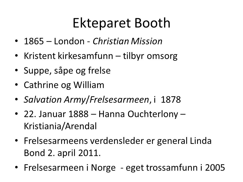Ekteparet Booth 1865 – London - Christian Mission
