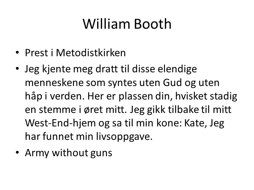 William Booth Prest i Metodistkirken