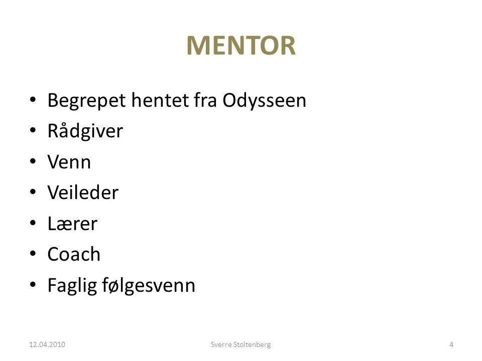 MENTOR Begrepet hentet fra Odysseen Rådgiver Venn Veileder Lærer Coach