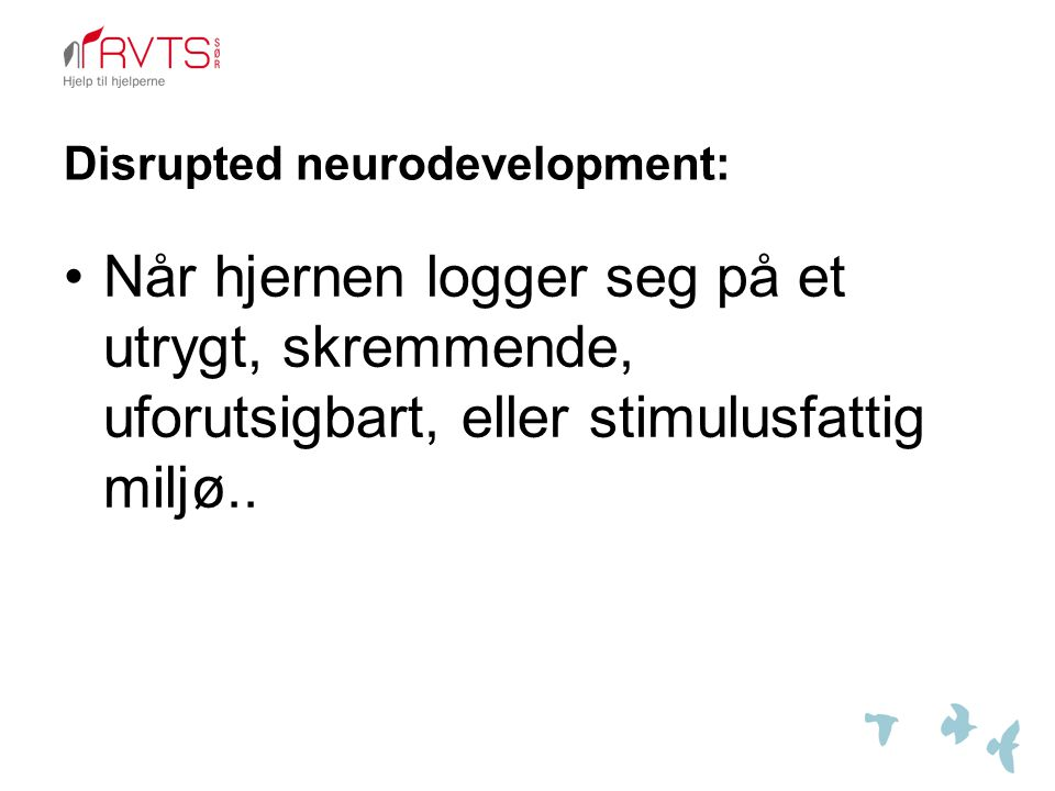 Disrupted neurodevelopment: