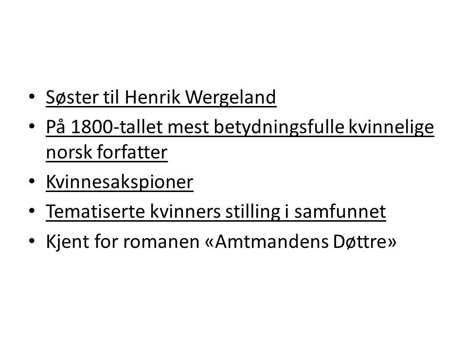 Søster til Henrik Wergeland