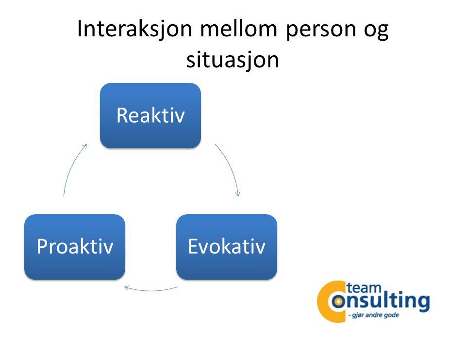 Interaksjon mellom person og situasjon