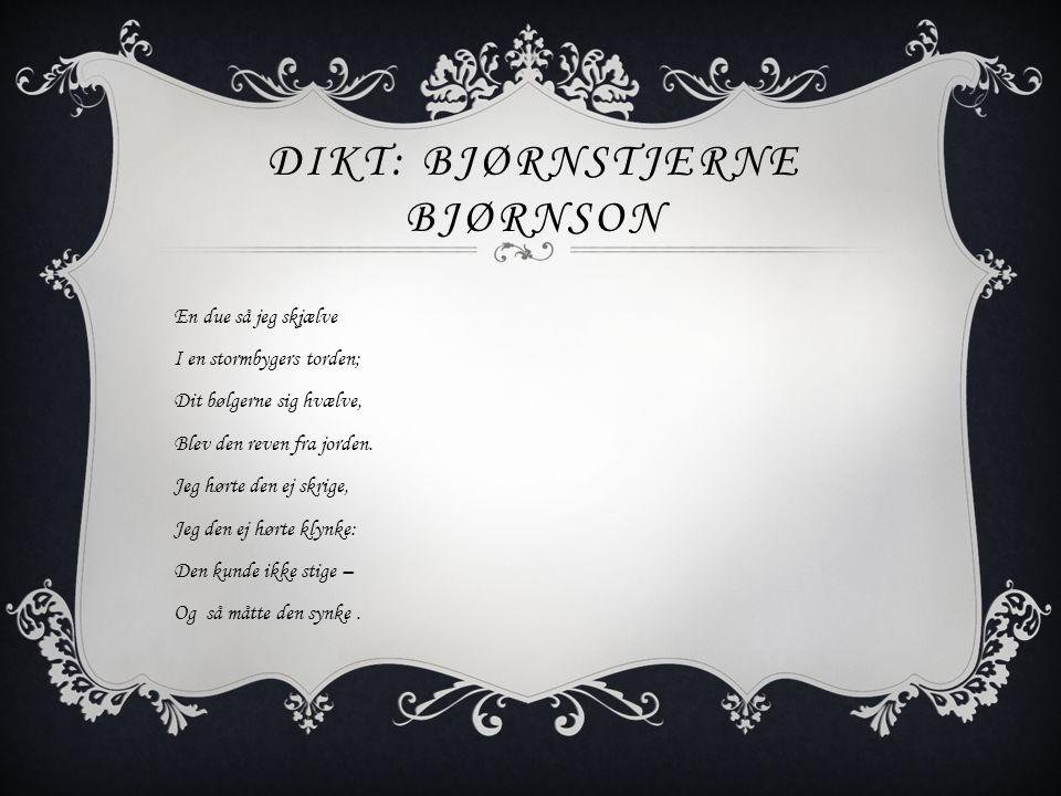 Dikt: Bjørnstjerne Bjørnson