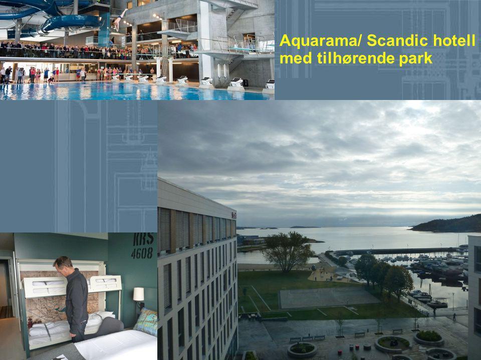 Aquarama/ Scandic hotell med tilhørende park