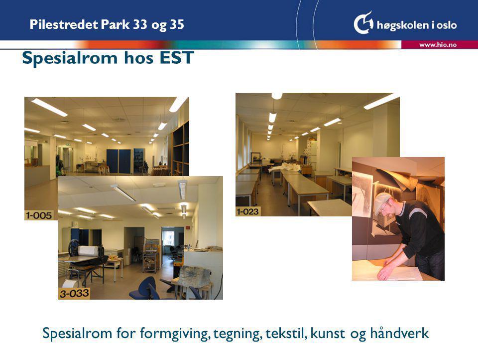 Spesialrom hos EST Spesialrom for formgiving, tegning, tekstil, kunst og håndverk