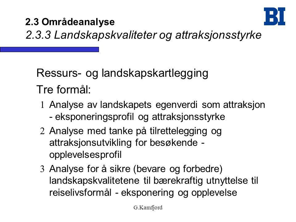 2.3 Områdeanalyse 2.3.3 Landskapskvaliteter og attraksjonsstyrke