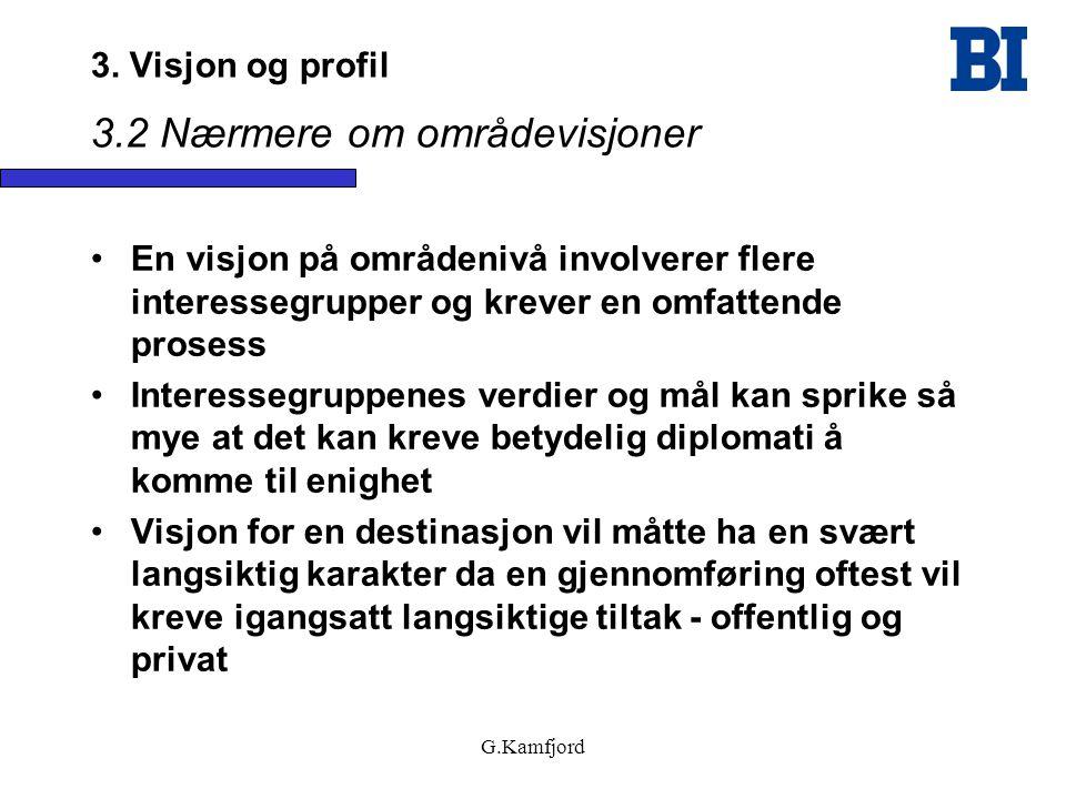 3. Visjon og profil 3.2 Nærmere om områdevisjoner