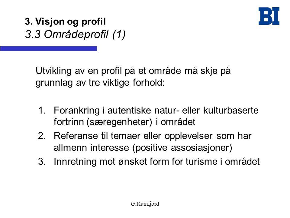 3. Visjon og profil 3.3 Områdeprofil (1)