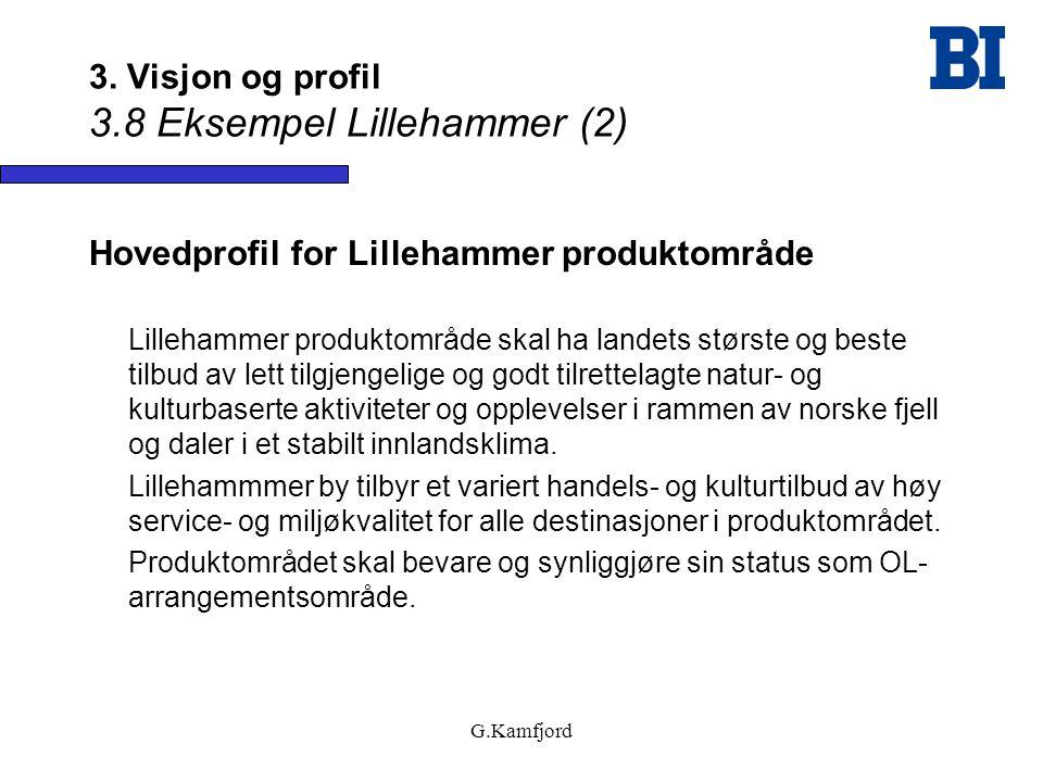 3. Visjon og profil 3.8 Eksempel Lillehammer (2)