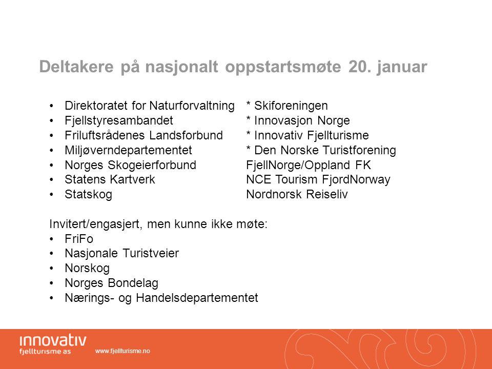 Deltakere på nasjonalt oppstartsmøte 20. januar