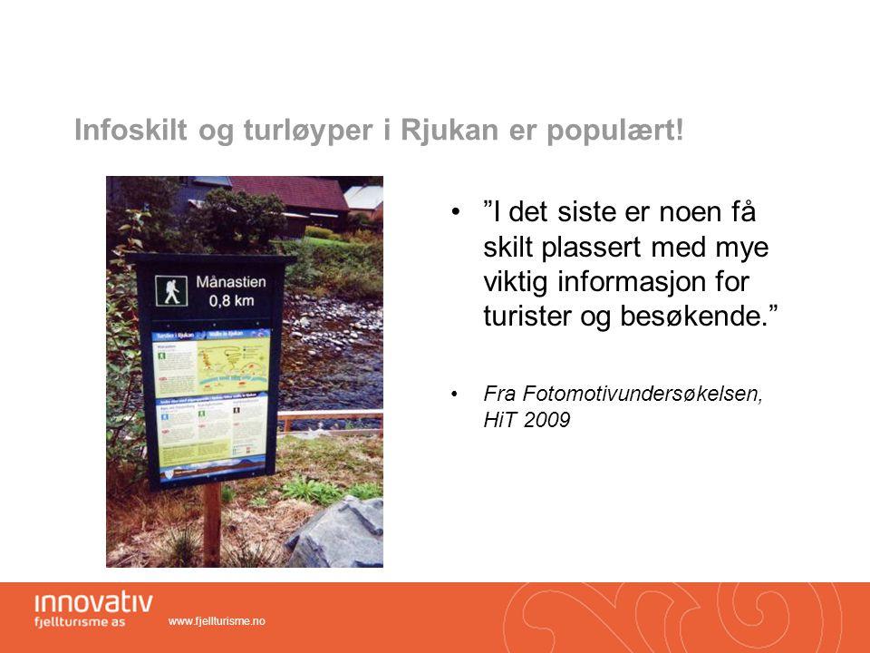 Infoskilt og turløyper i Rjukan er populært!