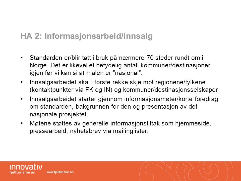 HA 2: Informasjonsarbeid/innsalg