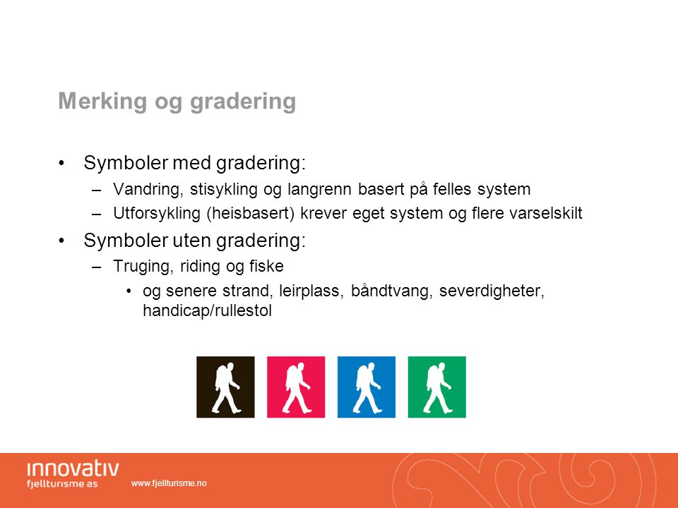 Merking og gradering Symboler med gradering: Symboler uten gradering: