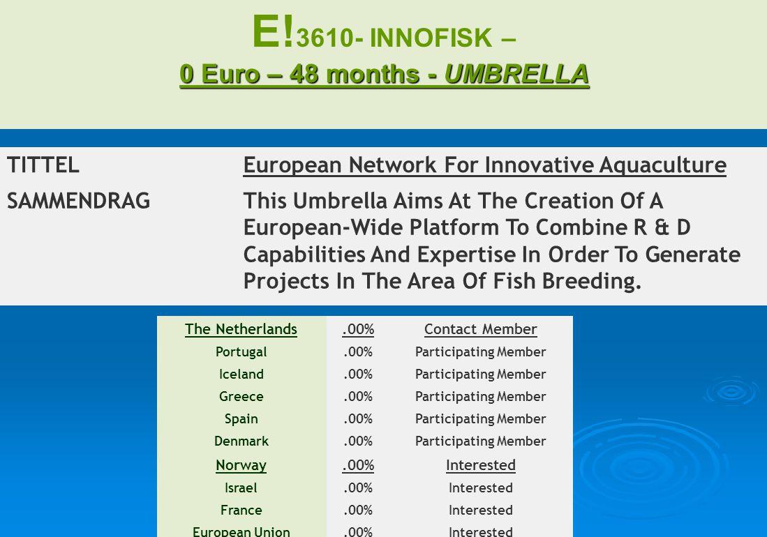 0 Euro – 48 months - UMBRELLA