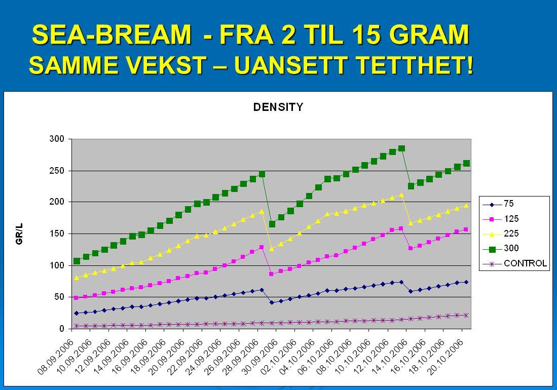 SEA-BREAM - FRA 2 TIL 15 GRAM SAMME VEKST – UANSETT TETTHET!