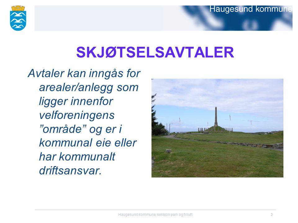 Haugesund kommune, seksjon park og friluft