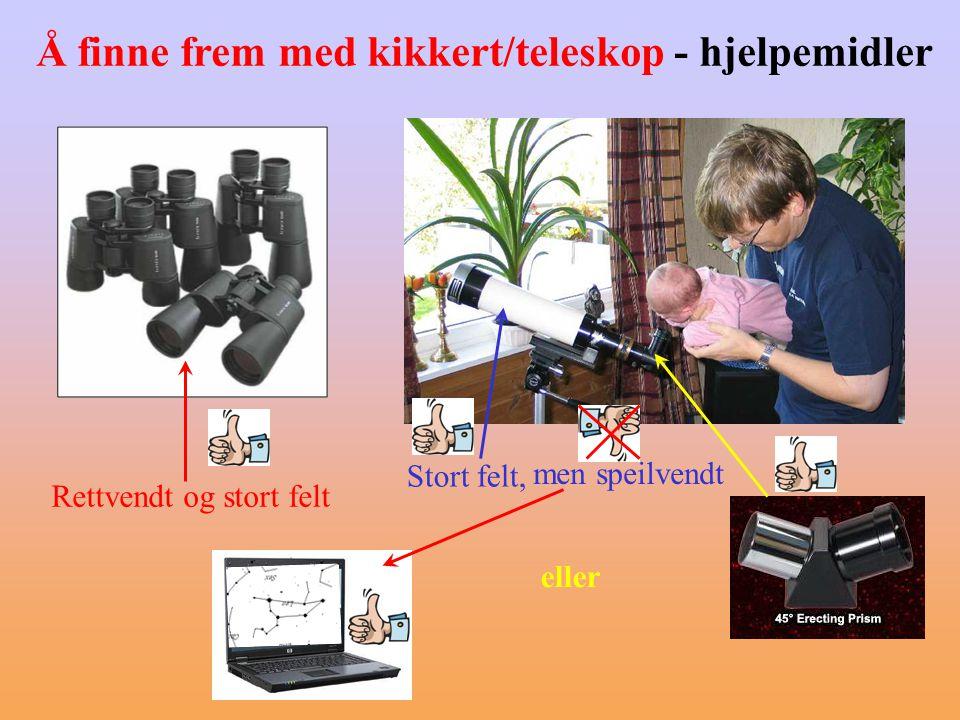 Å finne frem med kikkert/teleskop - hjelpemidler