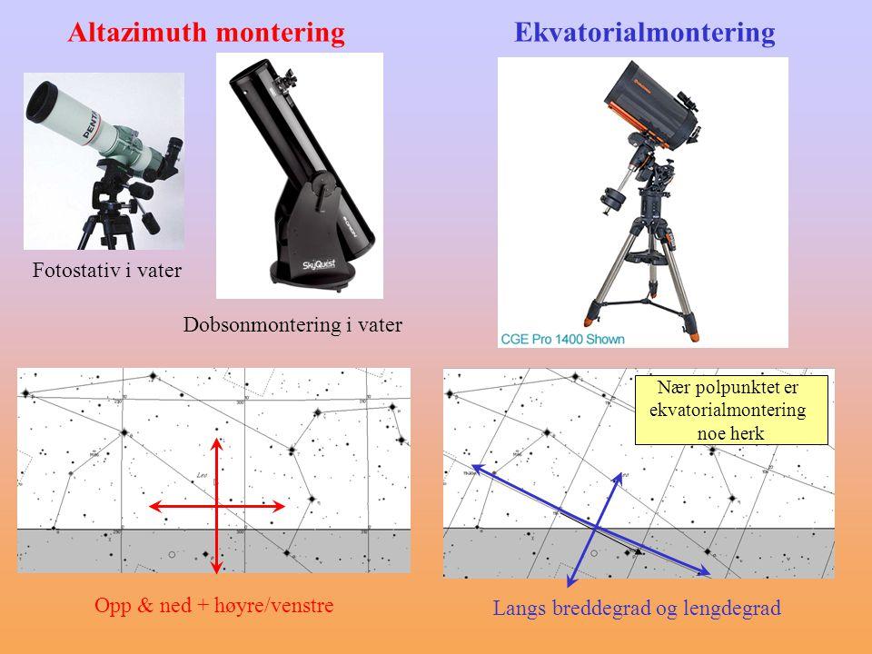 Altazimuth montering Ekvatorialmontering Fotostativ i vater