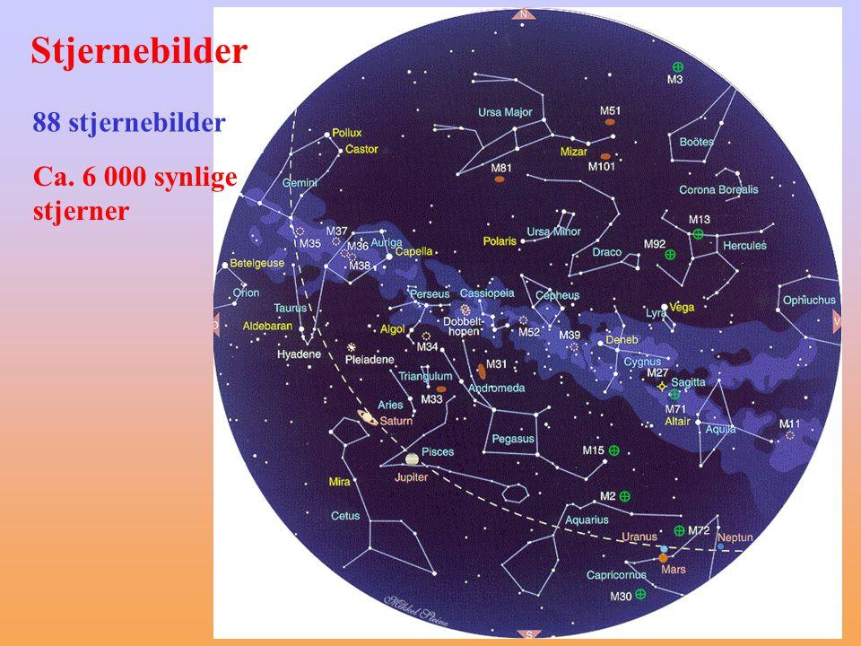 Stjernebilder 88 stjernebilder Ca. 6 000 synlige stjerner