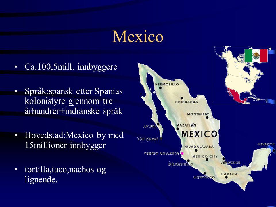 Mexico Ca.100,5mill. innbyggere