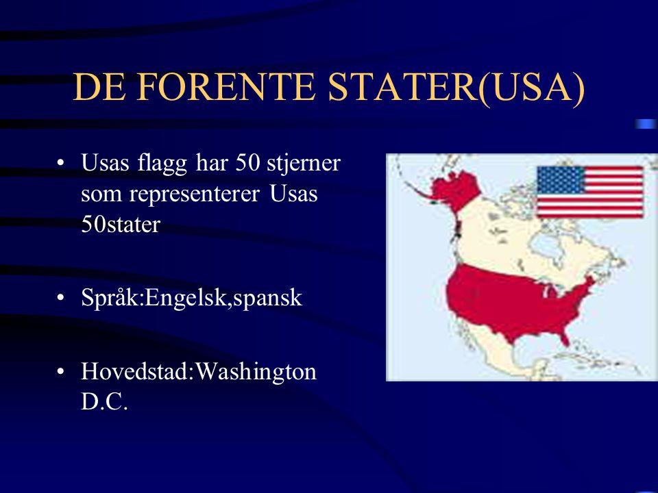DE FORENTE STATER(USA)
