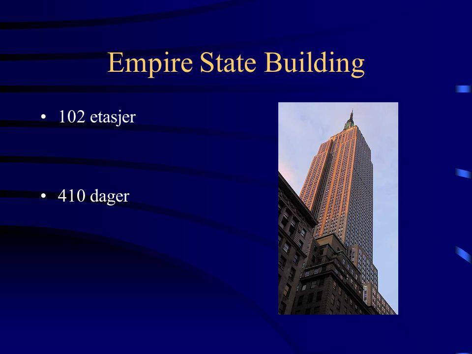 Empire State Building 102 etasjer 410 dager