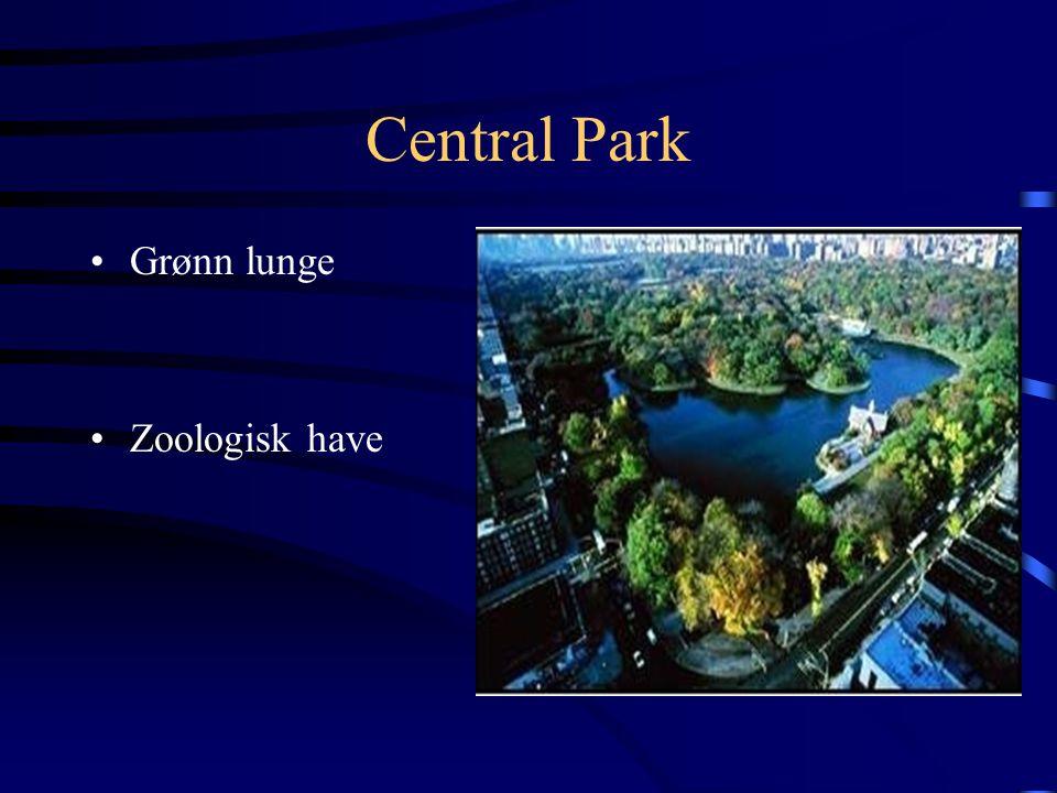 Central Park Grønn lunge Zoologisk have