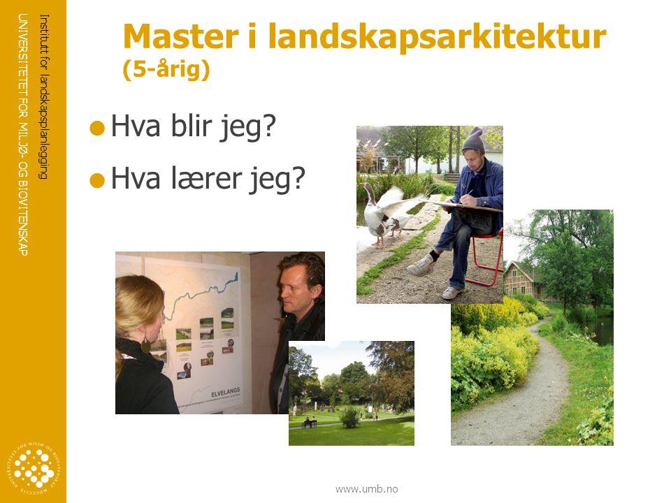 Master i landskapsarkitektur (5-årig)