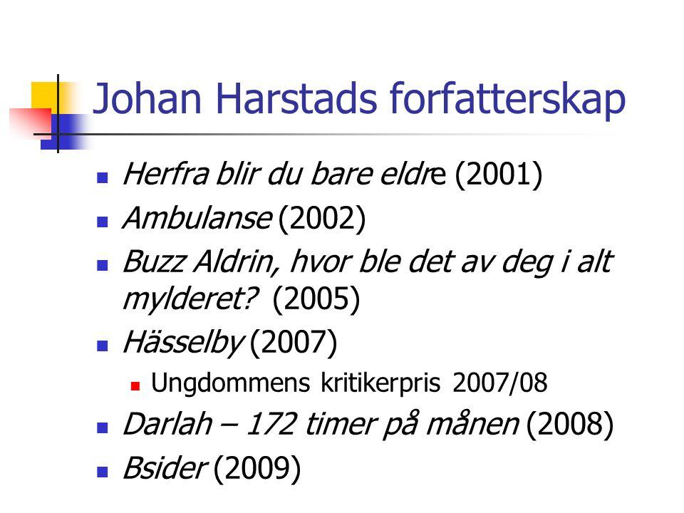Johan Harstads forfatterskap