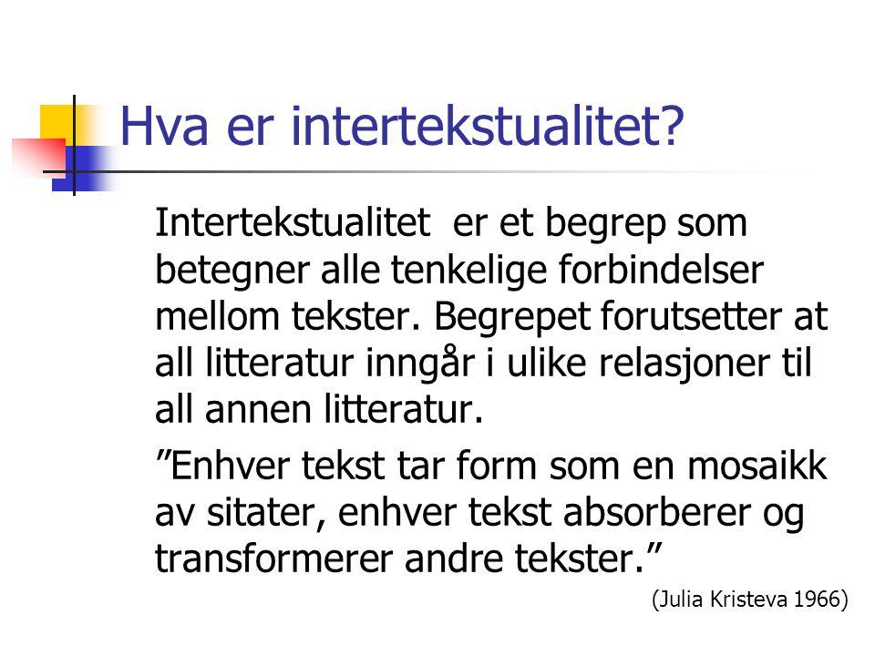 Hva er intertekstualitet