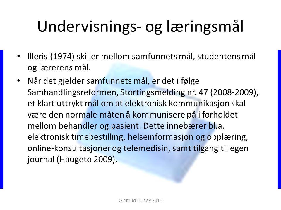 Undervisnings- og læringsmål