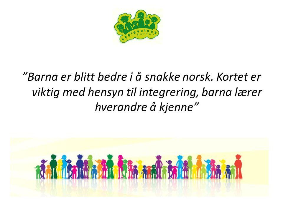 Barna er blitt bedre i å snakke norsk