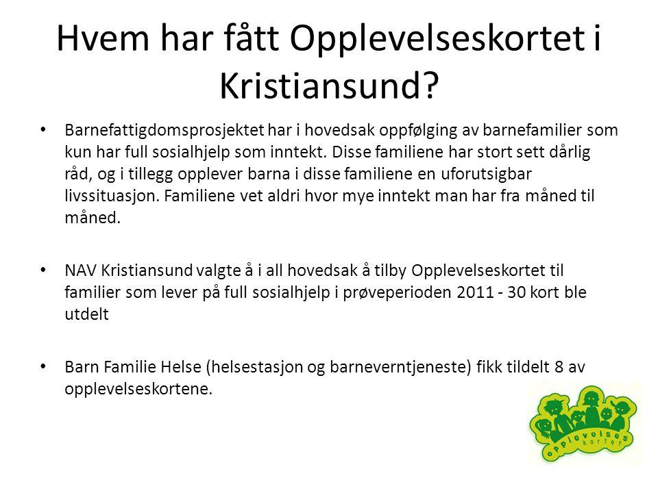 Hvem har fått Opplevelseskortet i Kristiansund