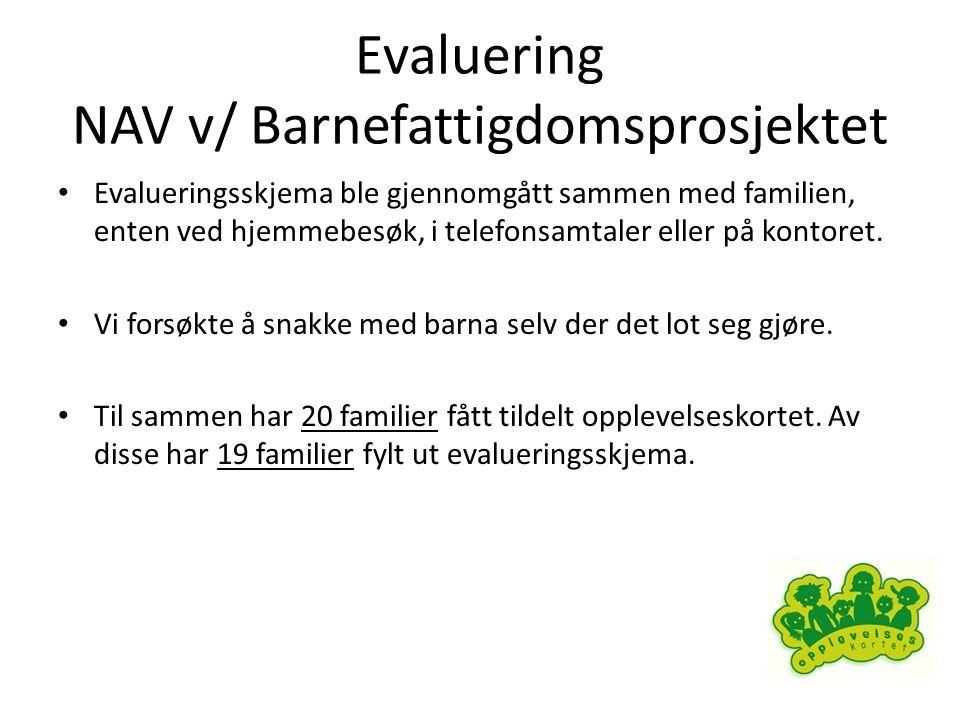 Evaluering NAV v/ Barnefattigdomsprosjektet