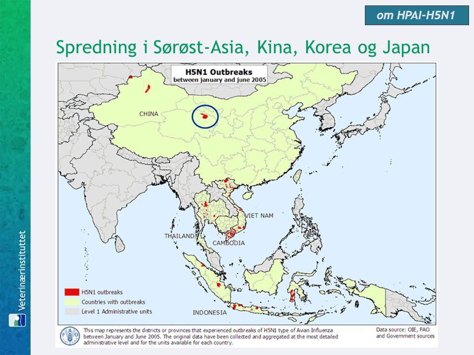 Spredning i Sørøst-Asia, Kina, Korea og Japan