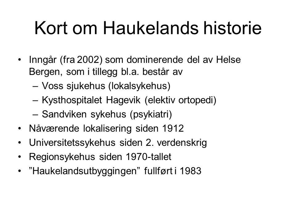 Kort om Haukelands historie