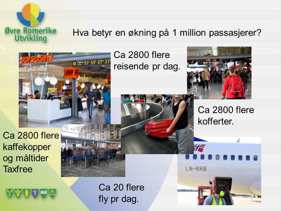 Hva betyr en økning på 1 million passasjerer