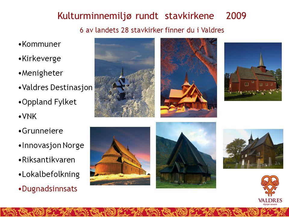 Kulturminnemiljø rundt stavkirkene 2009