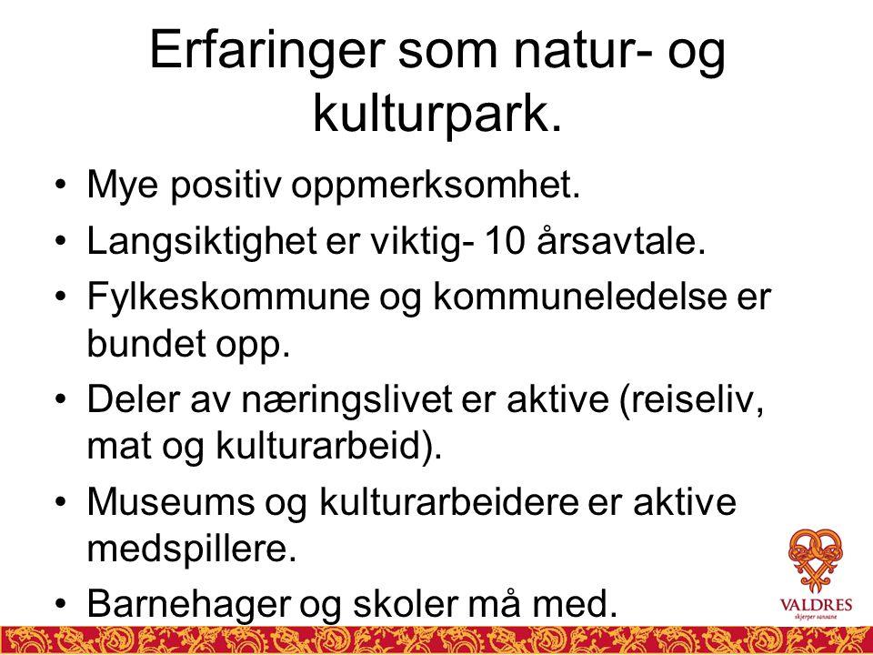 Erfaringer som natur- og kulturpark.