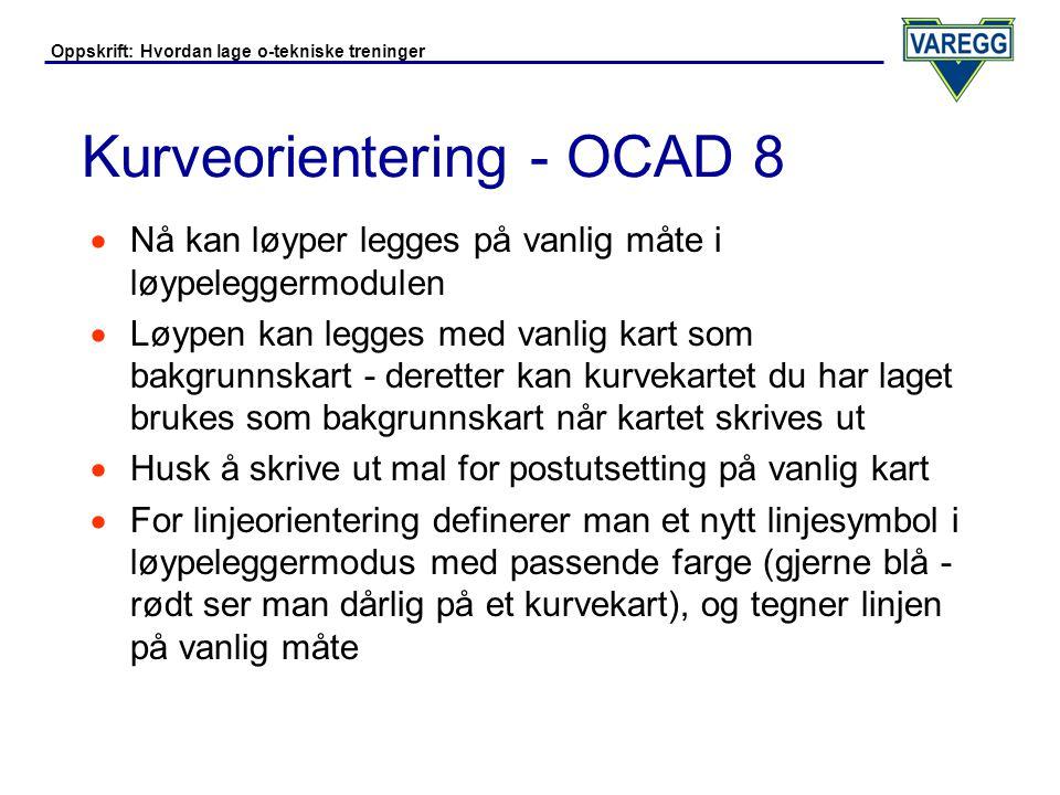 Kurveorientering - OCAD 8