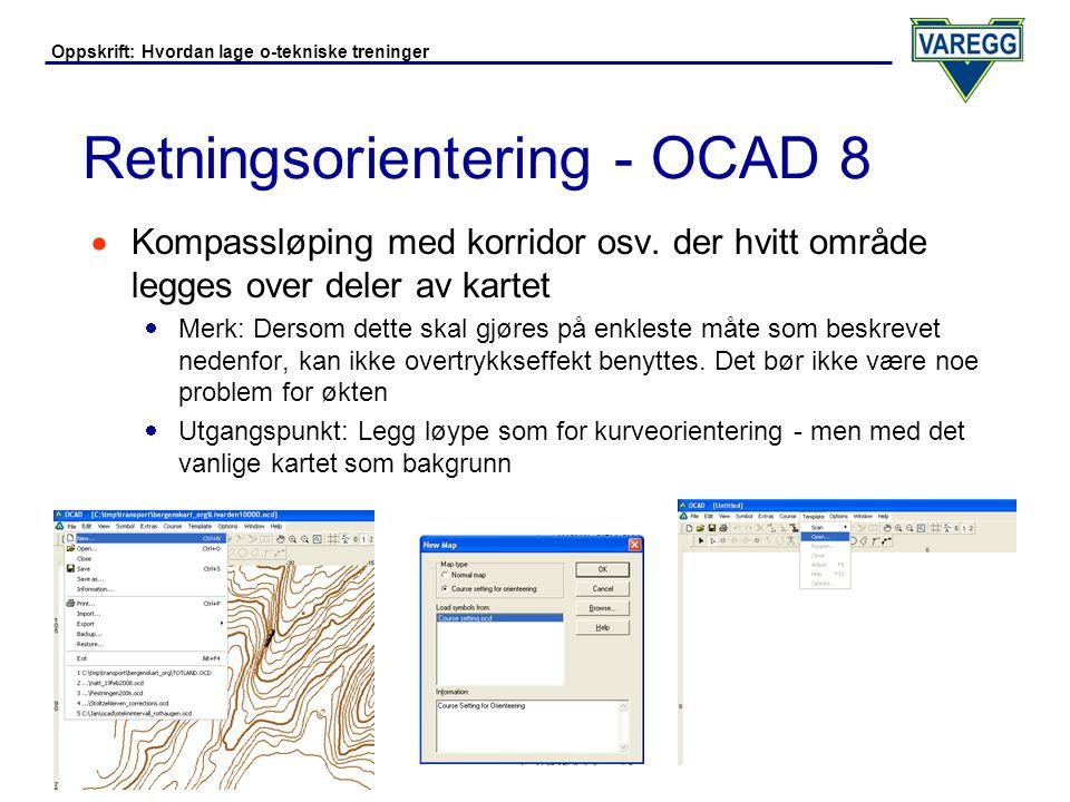 Retningsorientering - OCAD 8