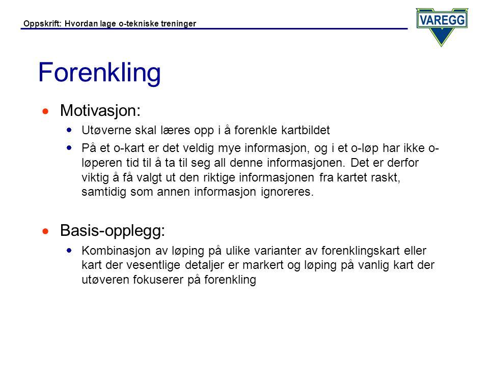 Forenkling Motivasjon: Basis-opplegg: