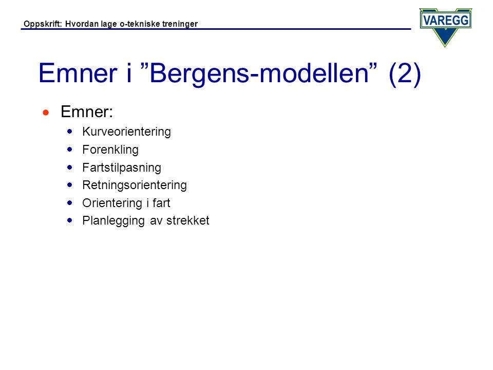Emner i Bergens-modellen (2)