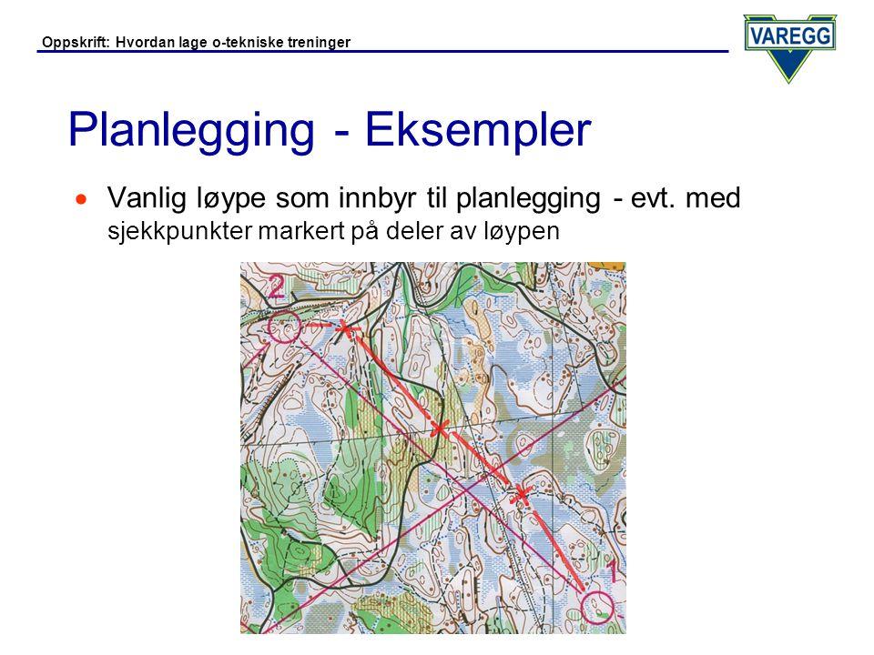 Planlegging - Eksempler