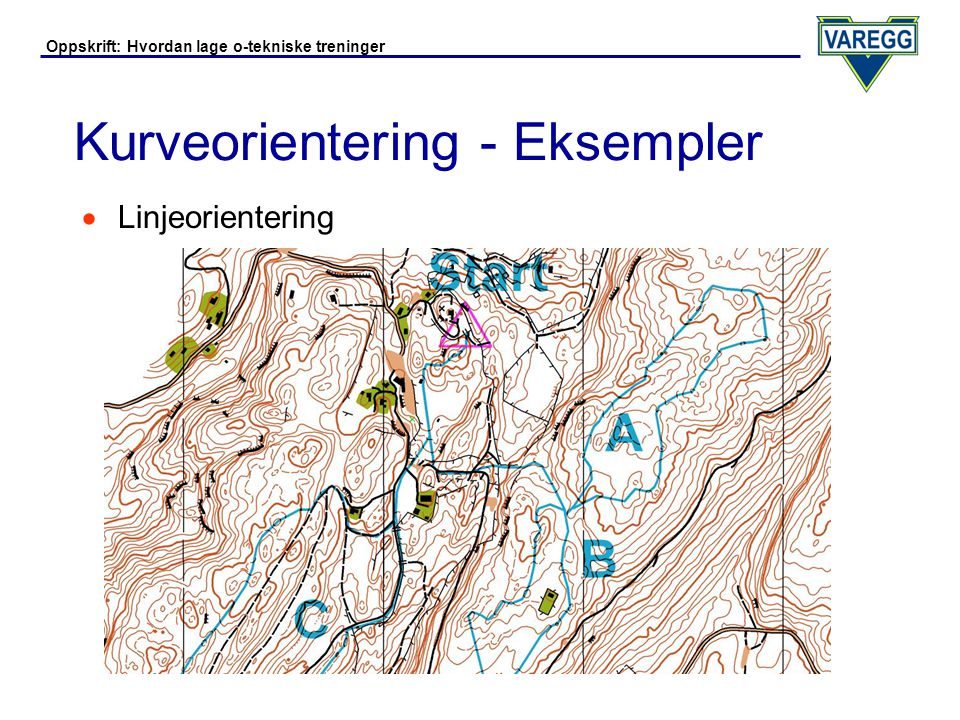 Kurveorientering - Eksempler