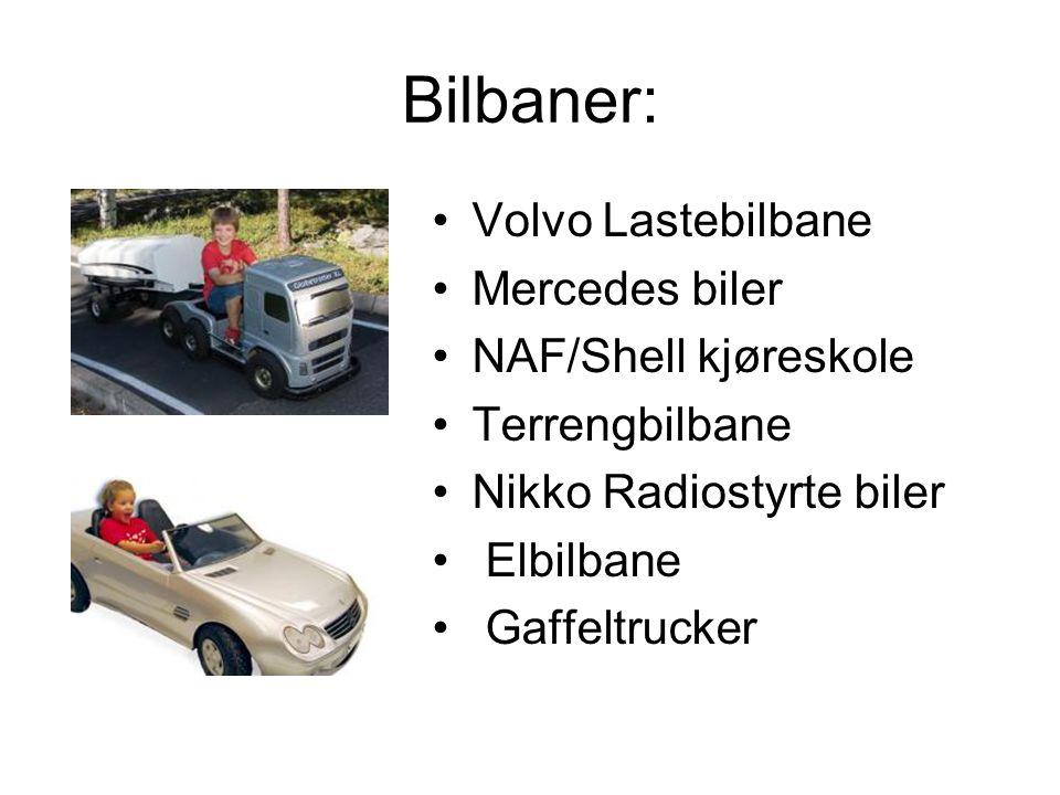 Bilbaner: Volvo Lastebilbane Mercedes biler NAF/Shell kjøreskole