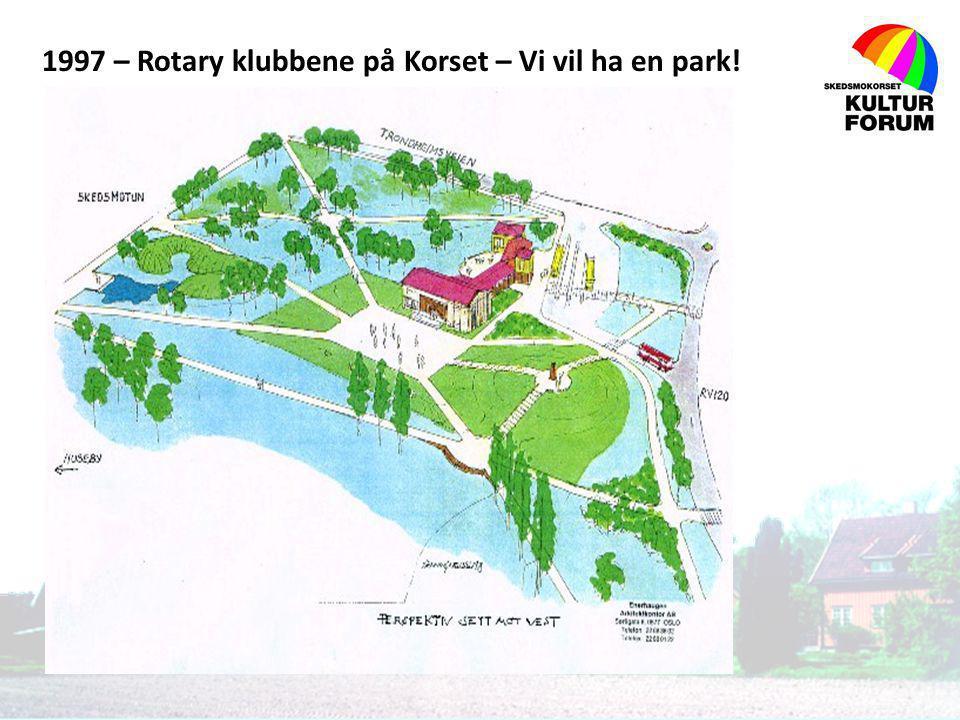 1997 – Rotary klubbene på Korset – Vi vil ha en park!